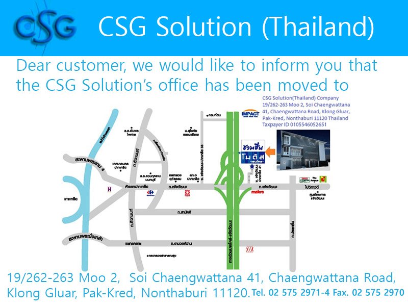 Welcome to CSG Solution (Thailand)